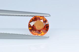 SAPO123M_1 - Sapphire Orange  6.50 Round, 1.45 carats