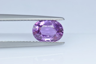 SAPP222M10_2 - Sapphire Pink 8x6 Oval, 1.47 carats ON APPRO