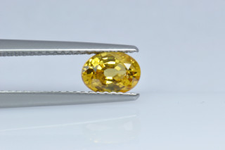 SAPY219M_10 - Sapphire Yellow  7x5 Oval, 1.01 carats
