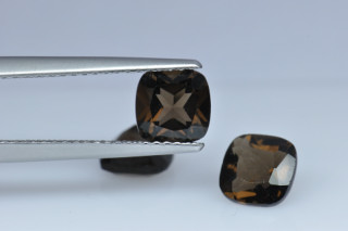 SMQ01821M - Smokey Quartz 6x6 Cushion, 0.88 carats