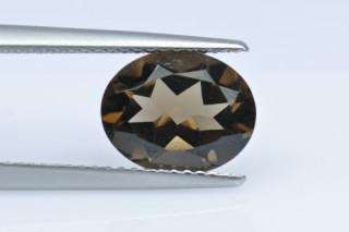 SMQ227M_1 - Smokey Quartz 10x8 Oval, 2.64 carats
