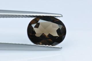 SMQ227M_3 - Smokey Quartz 10x8 Oval, 2.24 carats