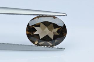 SMQ227M_4 - Smokey Quartz 10x8 Oval, 2.40 carats