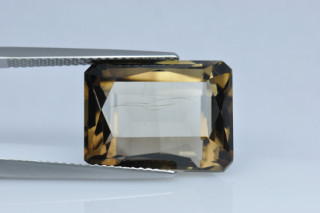SMQ438M_4 - Smokey Quartz 16x12 Octagon Princess, 13.05 carats