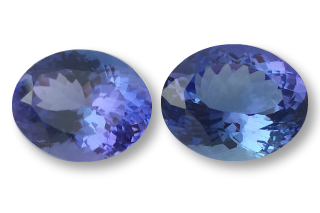 TAN228F_4_5 - Tanzanite 11x9 Oval Pair - 8.25 carats