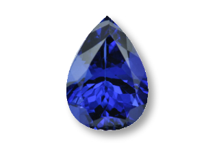 TAN528MINUSF_1 - Tanzanite  11x8 Pear 2.68 carats