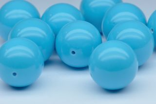 TUS03724M - Turquoise Synthetic 12X12 Round Beads -+9.0 carats