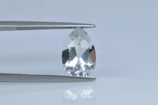 WHT530M - White Topaz 12x8 Pear, 3.45 carats