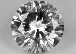 SAPW122M - White Sapphire 6.25 Round, 1.08 carats ON APPRO