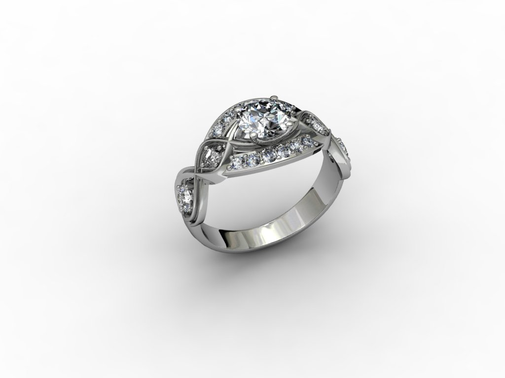 9ct white gold with cubic zirconia